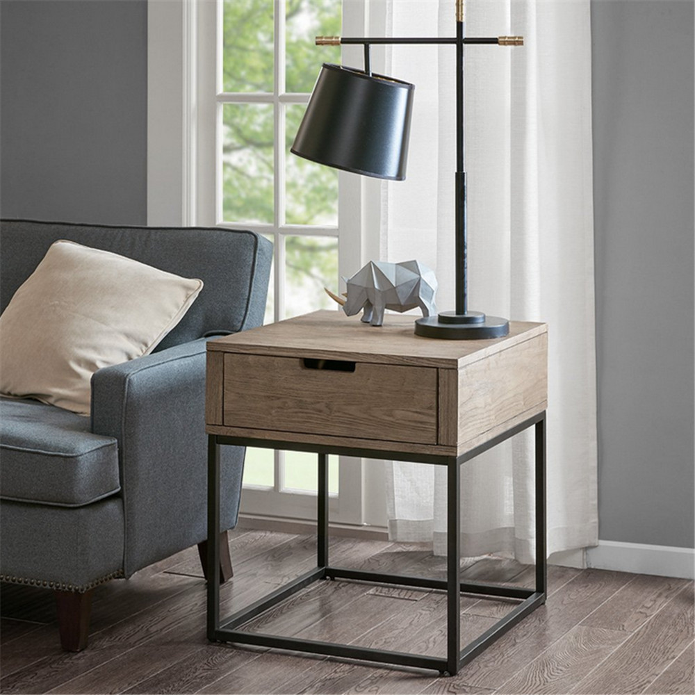 Factory Cheap Modern Kitchen Cabinets -  End Table, Brown/Slate  – Joysource Featured Image