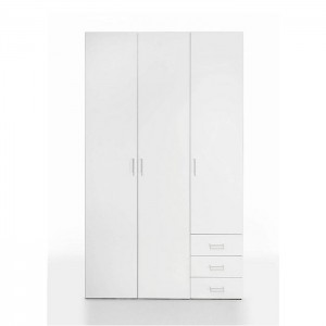 Modern 3 Door 3 Drawer Mdf Wood Wooden Clothes Wardrobe Bedroom Furniture