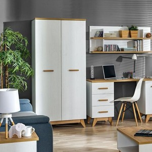 Competitive Price for Affordable Modern Kitchen Cabinets - Wood Wardrobe 2 Door Bedroom Wardrobe Design – Joysource
