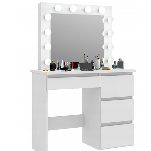 Short Lead Time for Living Room Cabinets - Modern Dressing Table With Mirror Makeup Table Vanity Table in Bedroom  – Joysource