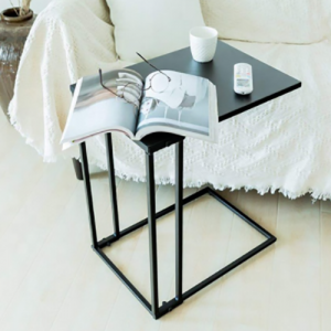 Living Room Bedroom C shape portable sofa side metal coffee table