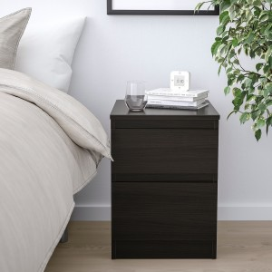 Home Hotel Bedroom Furniture Modern Nightstand Bedside Night Table With 2 Drawers