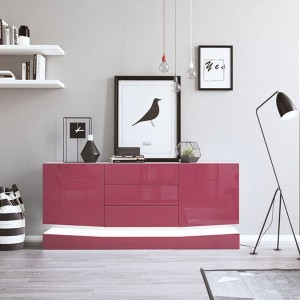 Wholesale Storage Cabinet - high gloss modern contermporay sideboard with LED lighting – Joysource