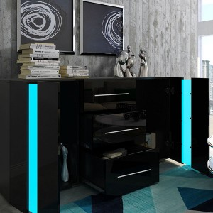 Contemporary Sideboard High Gloss Led Sideboard Design Side Cabinet