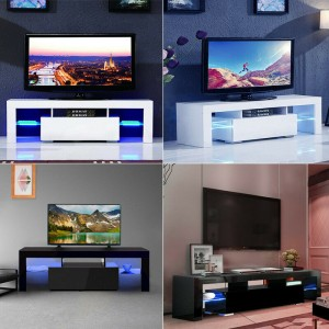 Modern Simple Led Tv Stand Veneer Tv Cabinet