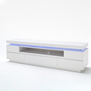 Modern Living Room Long White Tv Cabinets