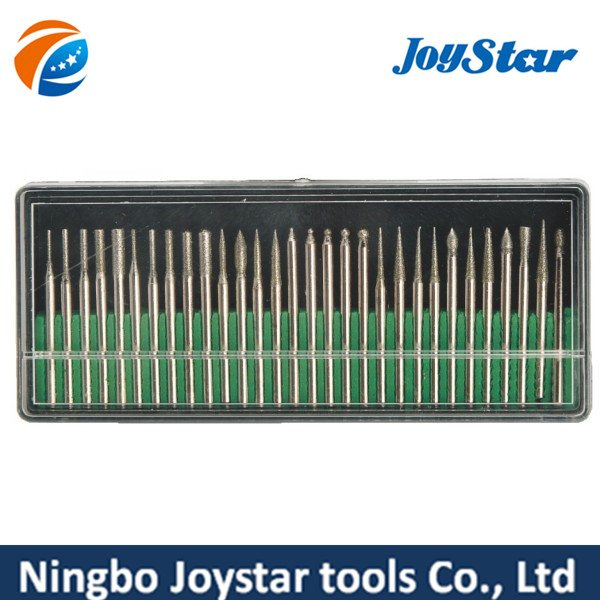 30 PCS diamond coated burrs glass drill bit set DB300