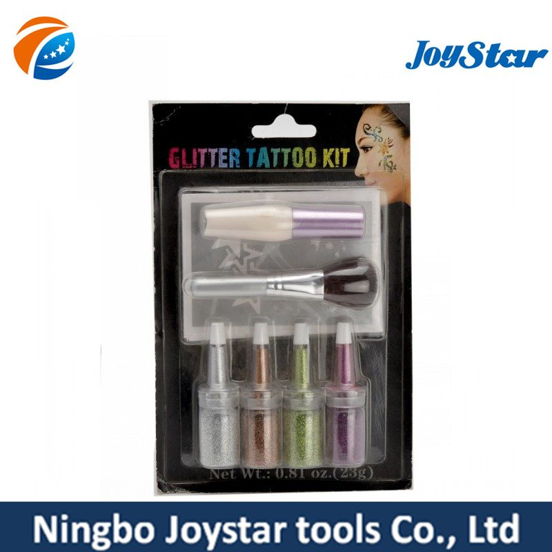 4 normal glitter tattoo set 4