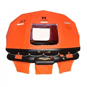 Thow-over Self-righting Inflatable Life Raft