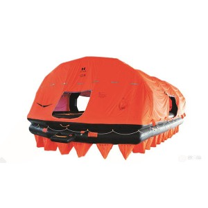 Large Size Thow-over Self-righting Inflatable Life Raft