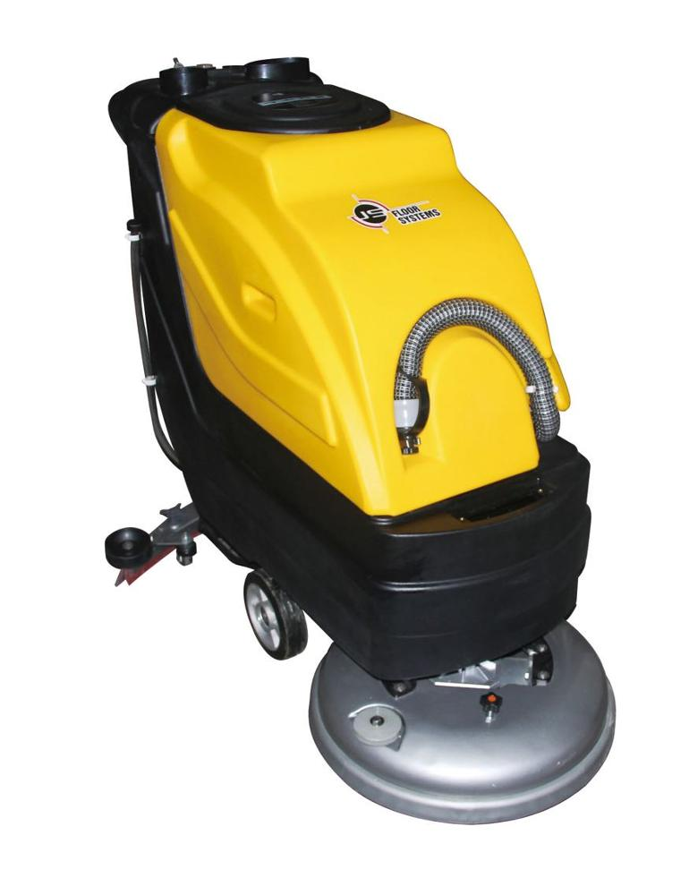 Hand Push Floor Scrubber Machine With Long Working Time