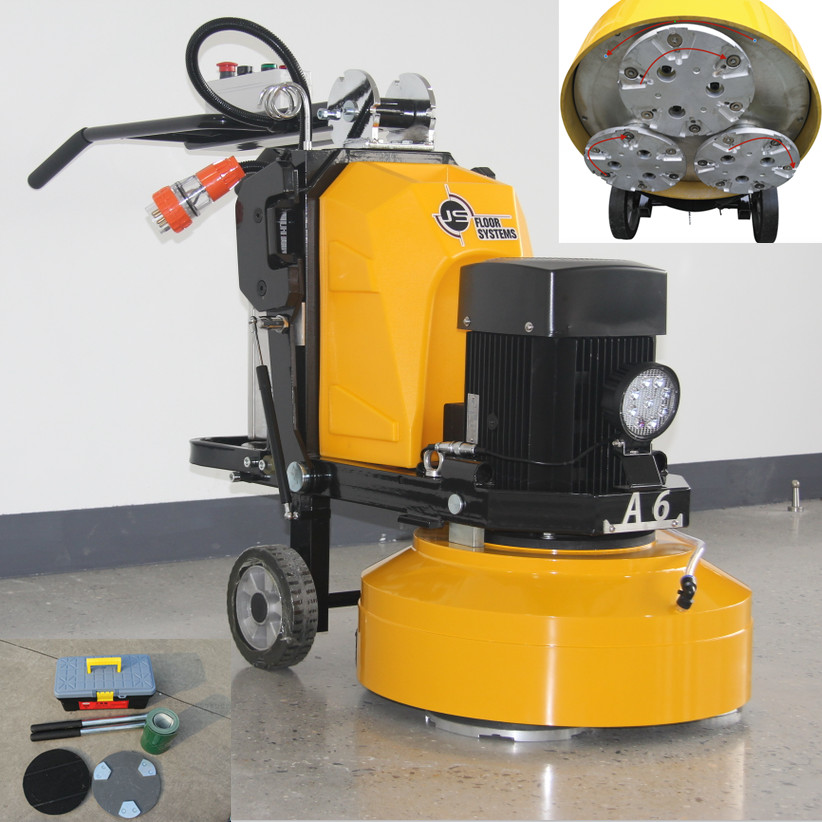 Lightweight concrete floor grinding polishing machine