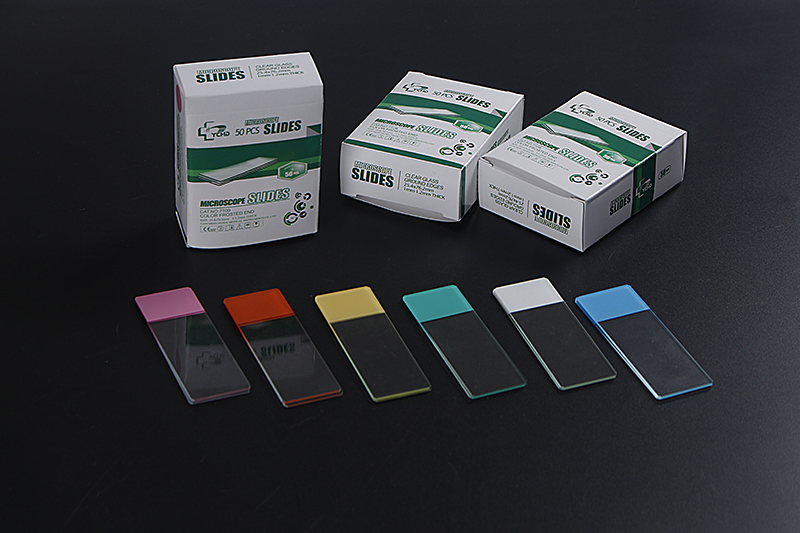 Color Frosted Microscope Slides With GROUND Edges Made From White Glass Featured Image