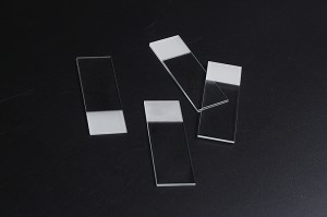 Frosted Microscope slides,1 end, 2 sides made from white glass