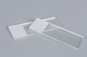 Frosted Microscope Slides,1 End, 1 Side Made From White Glass