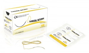 Absorbable Medical disposable Plain catgut surgical suture thread with needles for hospital use