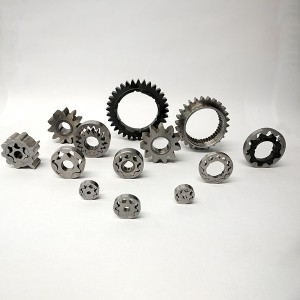 Powder metal sintered double spur gear