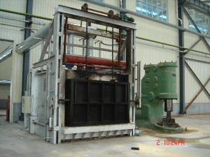 One ton forging furnace gas heating furnace
