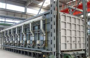 Trolley type heat treatment furnace
