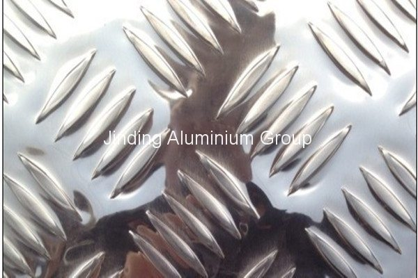 Bottom price for 3003 H24 bright finished aluminium tread plate to Ghana Factory