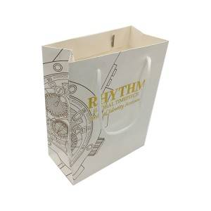 Professional Factory Produced hot foil texture luxury paper bag