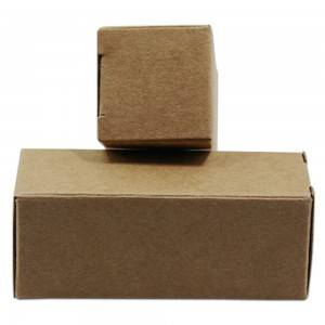 Foldable Rectangle Kraft Paper Box For Cosmetic,Medicine,Gift Packing