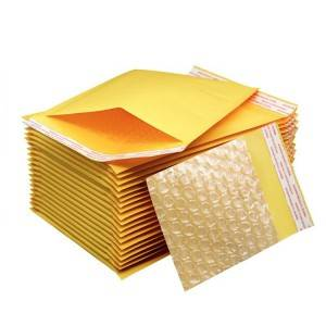 Custom design kraft bubble bags wholesale