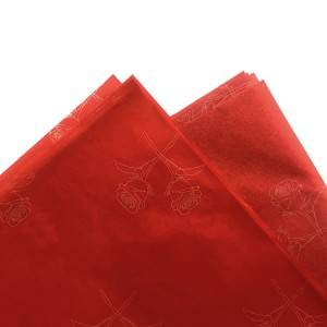 Custom rose pattern printed tissue paper for clothing packing