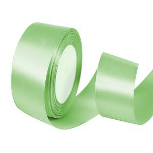 Best Selling Polyester Green Stain Ribbon By Rolled