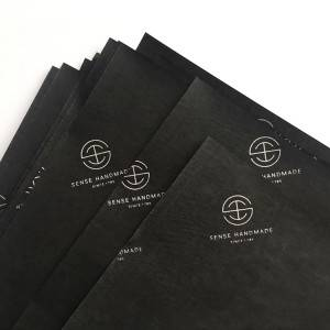 70x50cm black printed tissue wrapping paper with your Logo