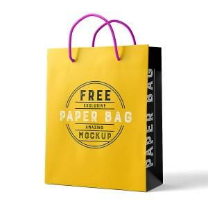 Coated Paper Packing Bag Custom logo shopping bag