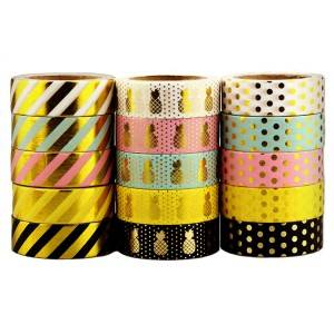 Custom standard washi tape golden foil masking tape