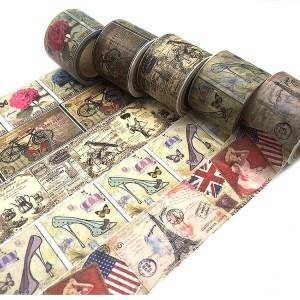 high quality custom washi tape vinyl roll sheet adhesive sticker