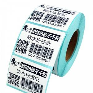 Waterproof sticker label rolls