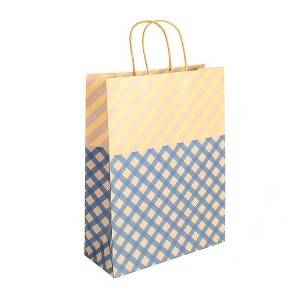 Price List for Oem Black Luxury Golden Hot Stamping Printed Sewn Kraft Paper Bag With Your Own Logo