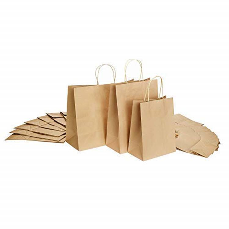 Brown color Kraft paper shopping bag with high quality craft paper Featured Image