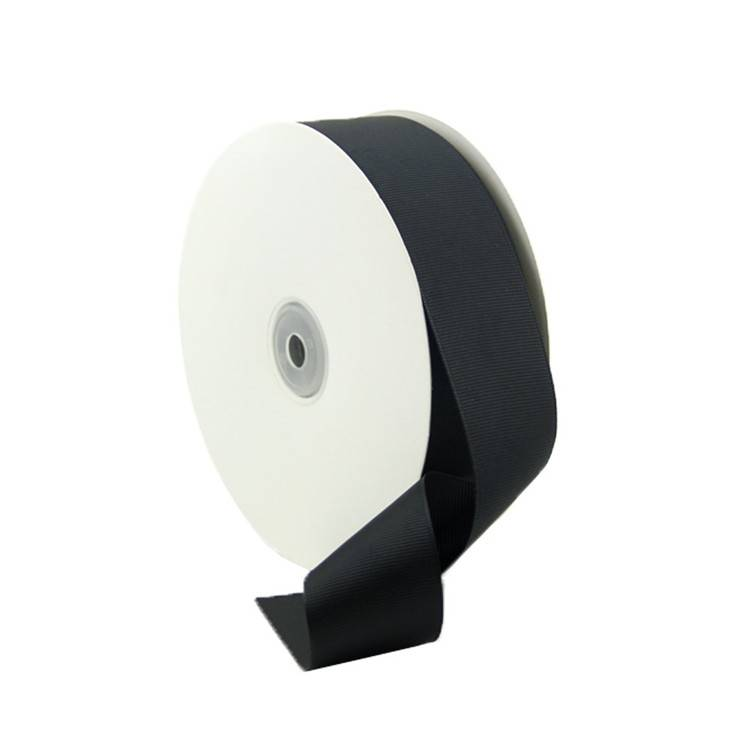 Professional Factory for Garment Accessory 3.8cm Black Grosgrain Ribbon With Imitation Nylon Material Featured Image