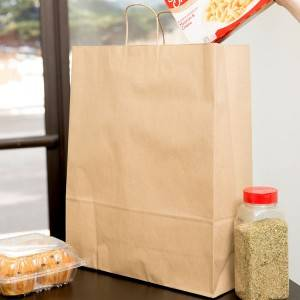 Medium Kraft Shopping Custom Made Paper Bag