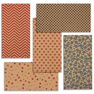 Colorful Pattern Printed Kraft Wrapping Paper In Roll Or In Sheet