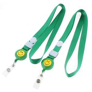 Custom green color lanyard with card holder