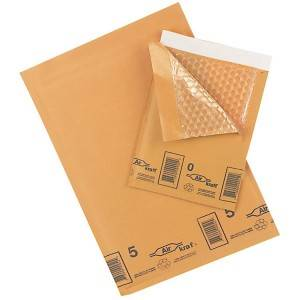 Self seal brown kraft bubble bag