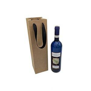 Kraft Shopping Paper Bag for wine bottle