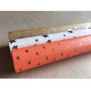Special paper rolls with custom hot stamping craft foil logo