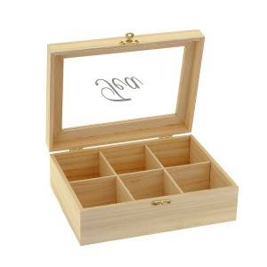 Super quality wooden tea box with window