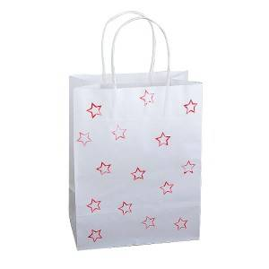 White Kraft DIY Pattern Shopping Bag with Handle