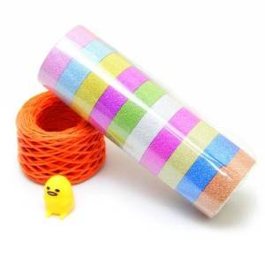 Glitter washi paper tape with film packing