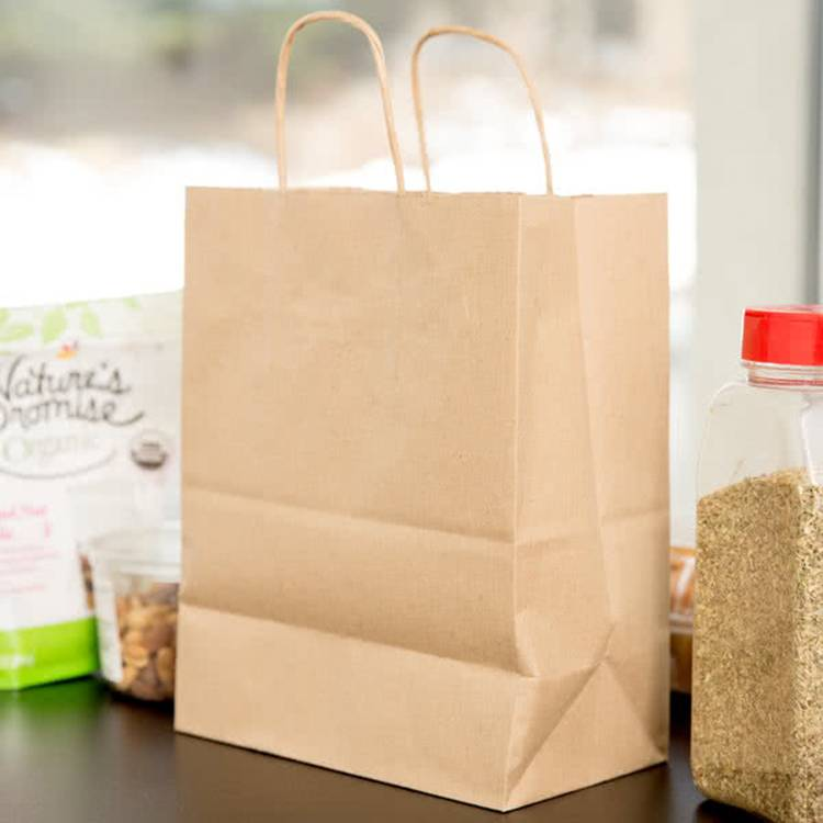 Medium Kraft Shopping Custom Made Paper Bag Featured Image