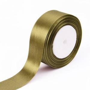 Solid color satin ribbons with customize logo