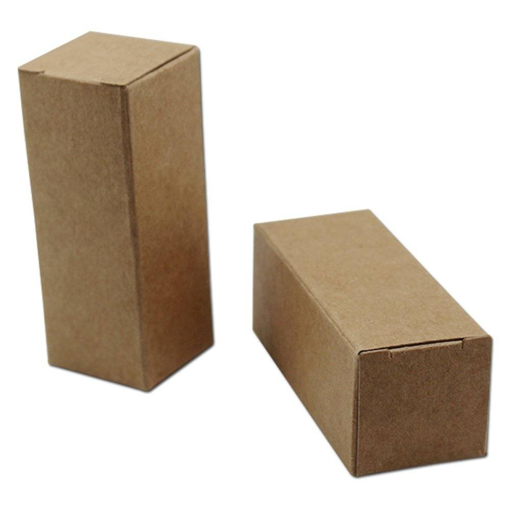 Foldable Rectangle Kraft Paper Box For Cosmetic,Medicine,Gift Packing Featured Image