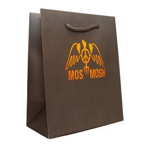 Corrugated Paper Solid Color Shopping Bag for Clothes,Gift and Merchandise